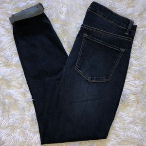 High rise stretchy denim jeans